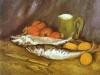 1886 Nature morte aux maquereaux