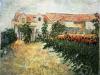 1887 Maison avec tournesols
