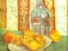 1887 Nature morte avec bouteille et citrons