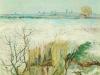 1888 Paysage neigeux et Arles