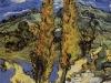 1889 Deux peupliers sur le chemin des collines