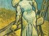 1889 Paysanne coupant de la paille
