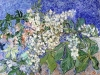 1890 Branche de marronnier en fleur