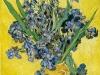 1890 Iris sur fond jaune