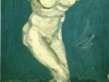 Plaster Statuette of a Male Torso