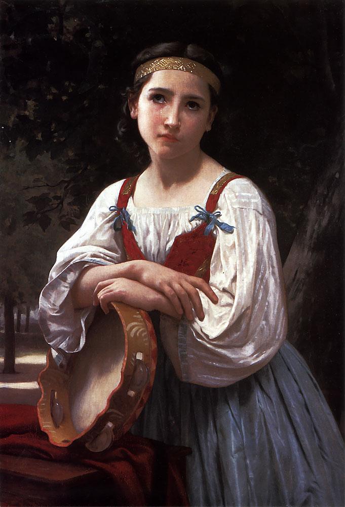 Bohemienne au Tambour de Basque