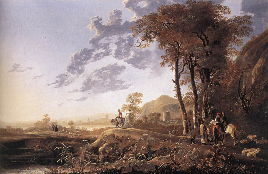 evening-landscape-with-horsemen-and-shepherds
