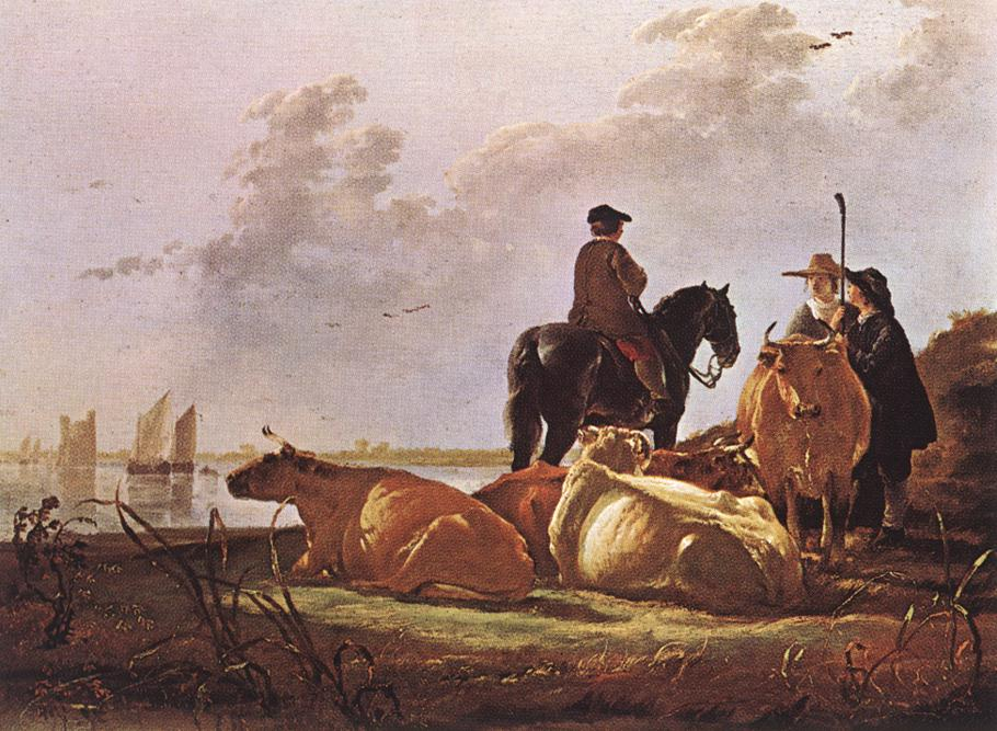 peasants-with-four-cows-by-the-river-merwede