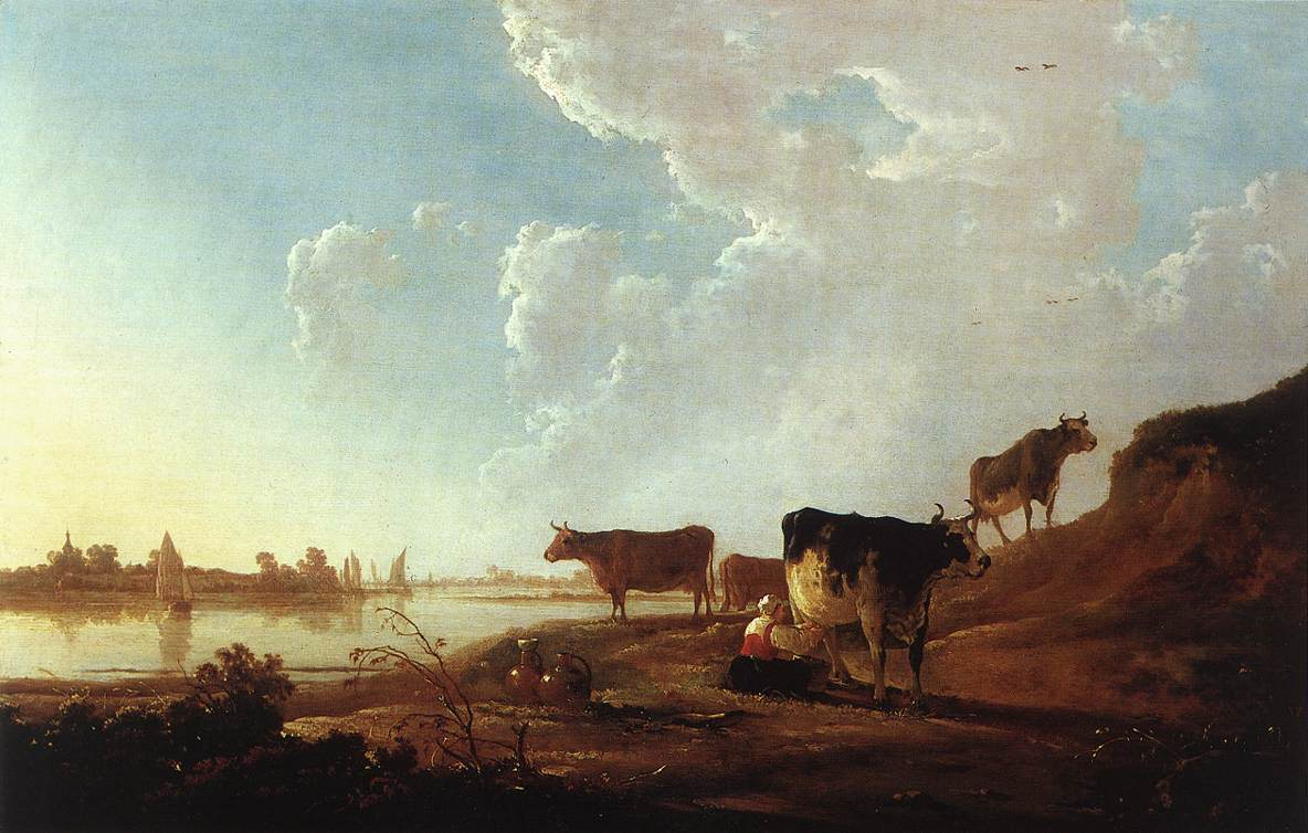 river-scene-with-milking-woman