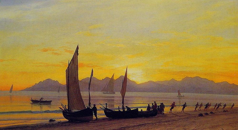 boats-ashore-at-sunset