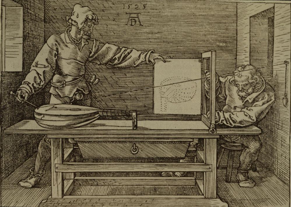 Albrecht Dürer-1471-1528-Man Drawing a Lute