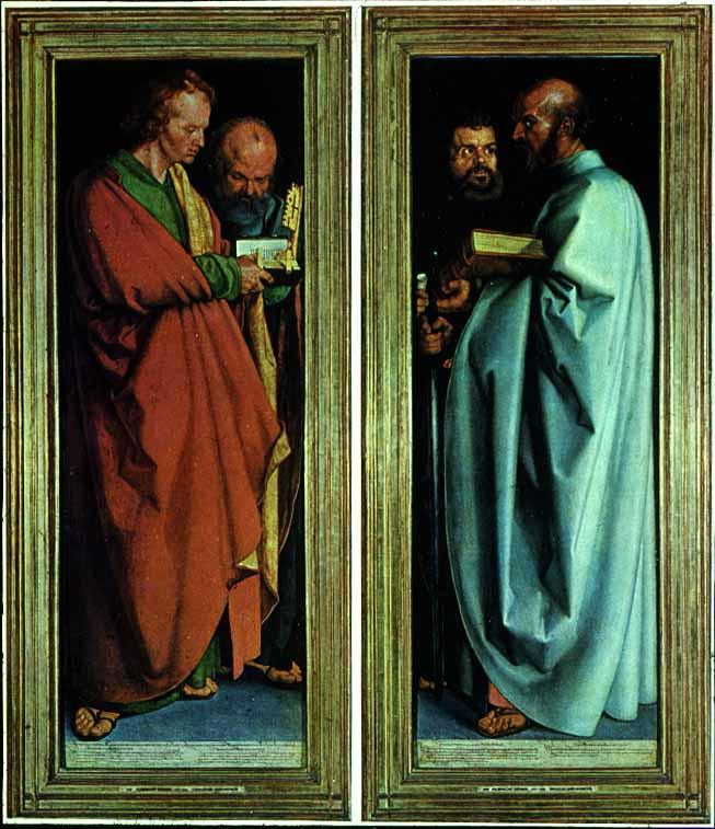 Albrecht Dürer-1471-1528-The Four Apostles-1526-Northern Renaissance-New Testament