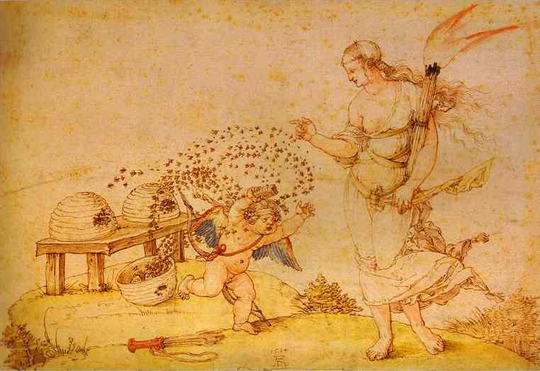 Albrecht Durer - Cupid the Honey Thief