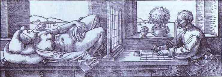 Albrecht Durer - Draughtsman Drawing a Recumbent Woman