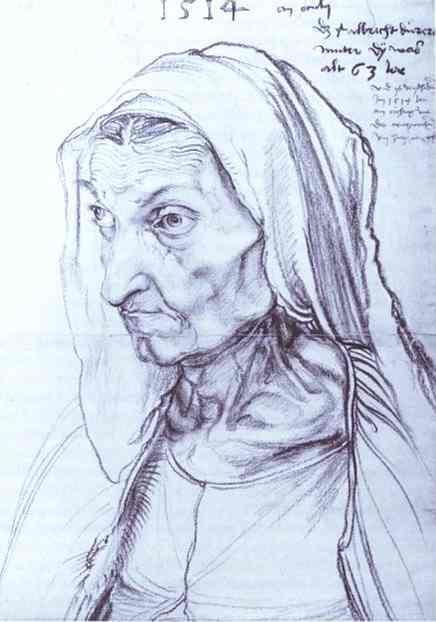 Albrecht Durer - Portrait of Durer's Mother