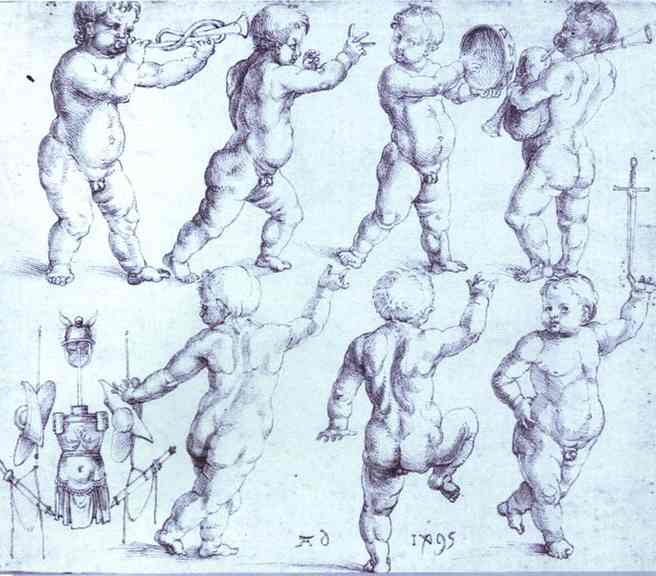 Albrecht Durer - Putti Dancing and Making Music