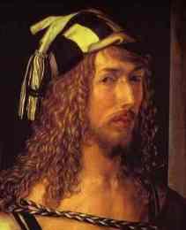Albrecht Durer - Self-Portrait at 26. Detail