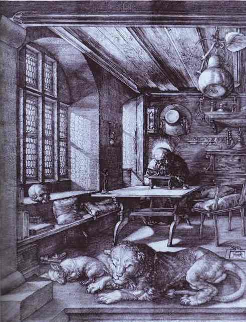 Albrecht Durer - St. Jerome in His Study