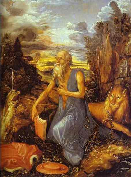 Albrecht Durer - St. Jerome in the Wilderness