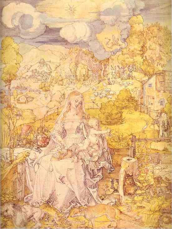 Albrecht Durer - The Virgin among a Multitude of Animals