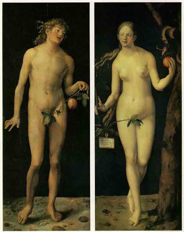 Durer,15,germany, Adam And Eve