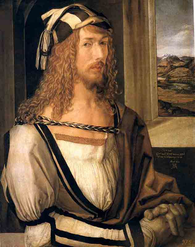 Durer,15,germany,autoportrait 1498, Madrid Prado