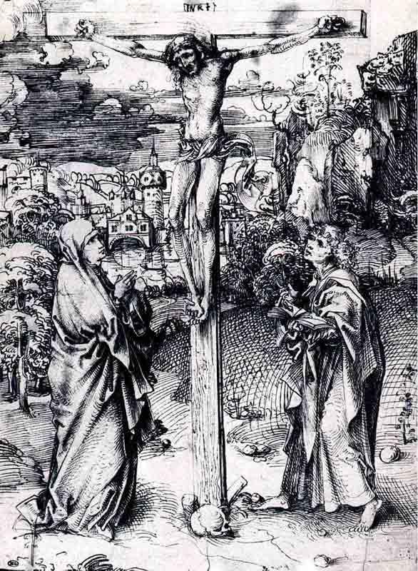 Durer,15,germany,crucifixion Entre Marie Et Jean,louvre
