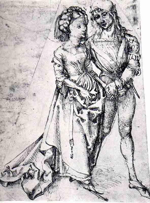 Durer,15,germany,jeune Couple,hamburg Kunsthalle