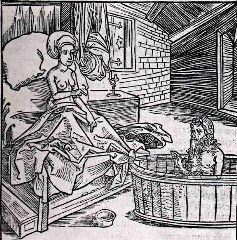 Durer,15,germany,la Femme Le Bain Froid Et L Ermite,berl~4e4