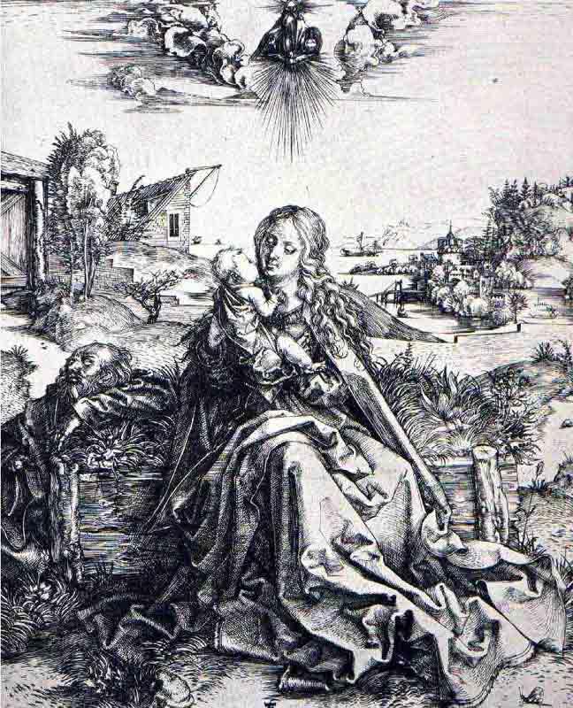 Durer,15,germany,la Sainte Famille A La Sauterelle,berli~fe5