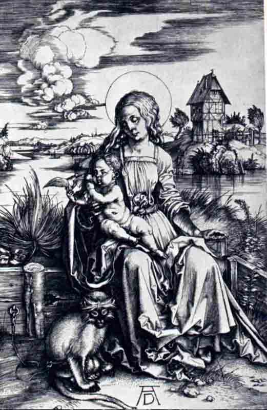 Durer,15,germany,la Vierge Au Macaque,berlin Smpk