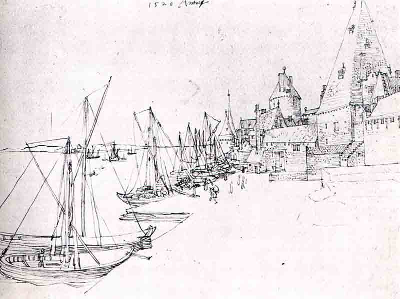 Durer,15,germany,le Port D Anvers,vienne Albertina