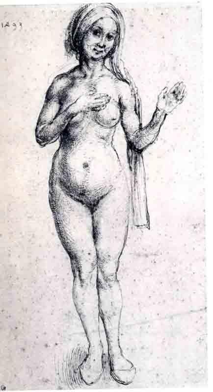 Durer,15,germany,nu Feminin Etude,bayonne M Bonnat