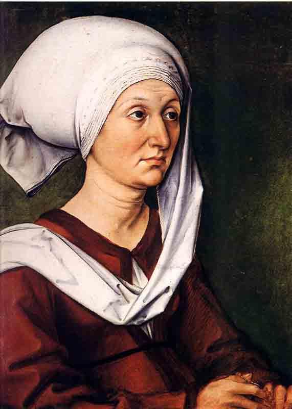 Durer,15,germany,portrait De Sa Mere,nuremberg