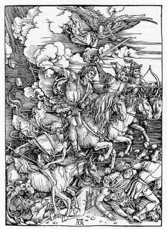 Durer,16,germany, Les 4 Cavaliers De L'apocalypse,