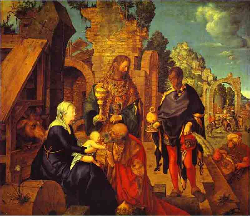 Durer,16,germany,adoration Of The Magi,florence