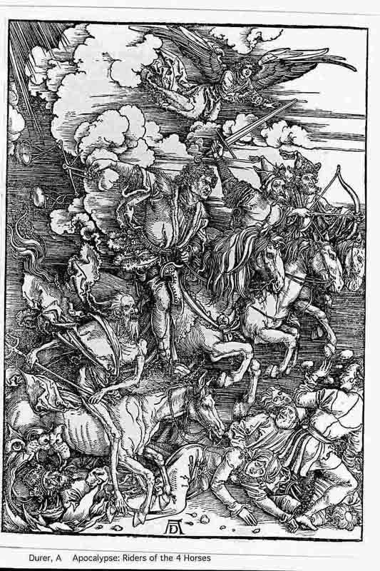 Durer,16,germany,four Horsemen Of The Appocalypse