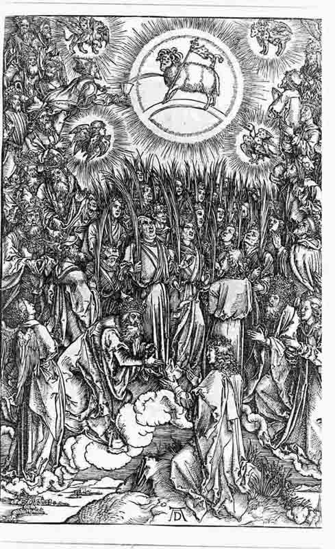 Durer,16,germany,hymn To The Chosen Adoration Of The Lamb