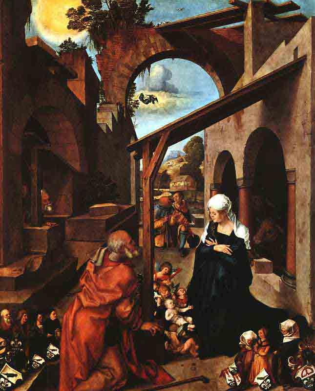Durer,16,germany,la Nativite, Baumgrtner Altarpiece
