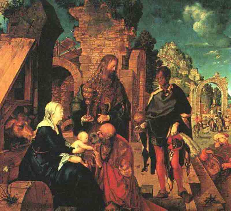 Durer,16,germany,l'adoration Des Trois Mages