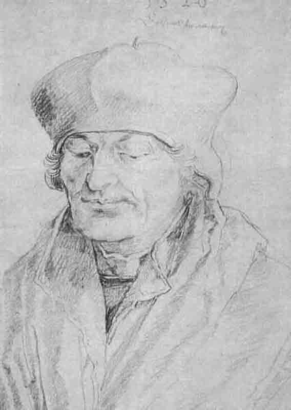 Durer,16,germany,portrait D'erasme Esquisse Crayon
