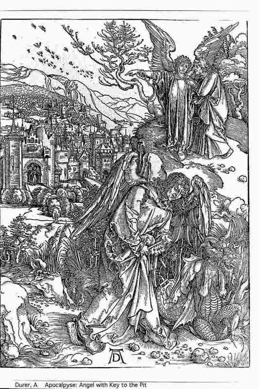 Durer,16,germany,the Angel With The Key To The Pit