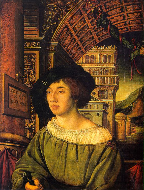 holbein-portrait of a young man
