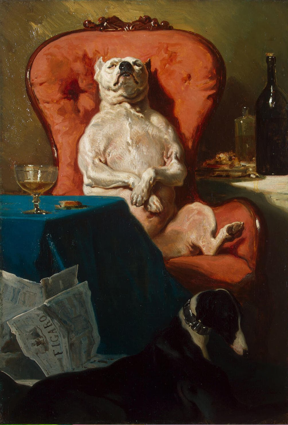 Alfred_Dedreux_-_Pug_Dog_in_an_Armchair