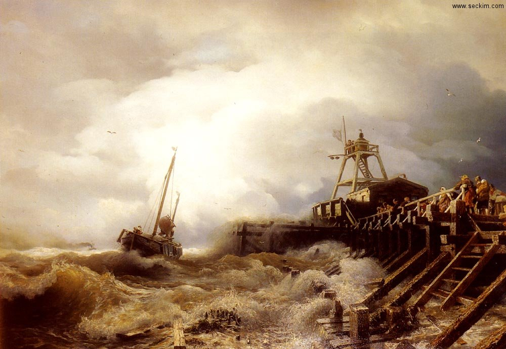 a-fishing-boat-caught-in-a-squall-off-a-jetty