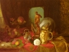 Still Life with Fruit, Objets d'Art and a White Rose on a Ta