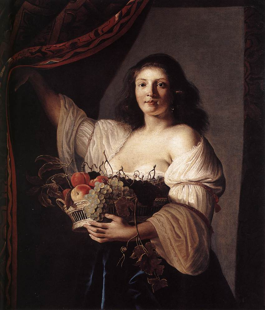 woman-with-a-basket-of-fruit