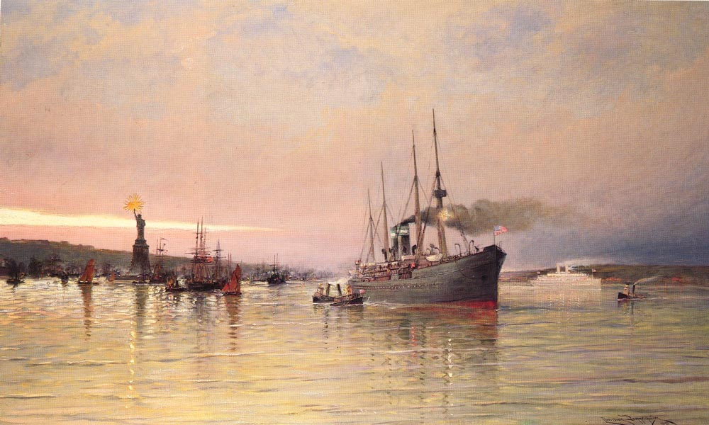 A View Of New York Harbor