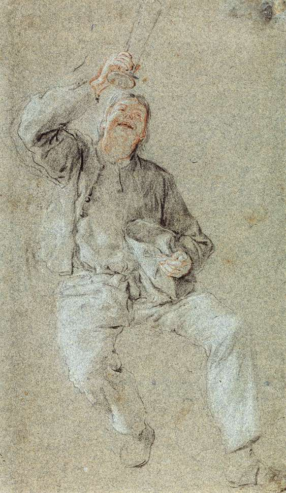 Young Man with a Raised Glass