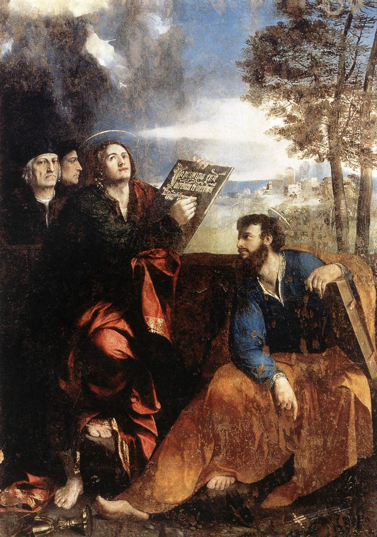 Sts John and Bartholomew with Donors